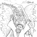 Moses sea coloring page
