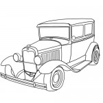 Old car coloring page
