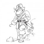 Old pirates coloring pages
