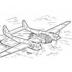Reconnaissance aircraft coloring page