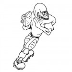 Rugby football coloring page