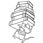 School books coloring page