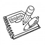 School notebook coloring page