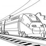 Speed train coloring page