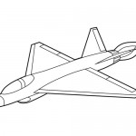Supersonic plane coloring page