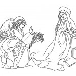 The annunciation coloring page