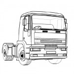 Truck coloring page