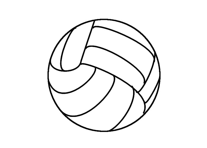 Volleyball Ball Coloring Pages Coloring Pages