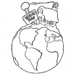Winter Earth day coloring page