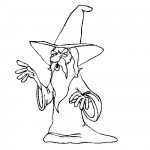 Wizard coloring sheet