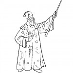 Wizard coloring sheets