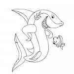 Nice shark coloring pages