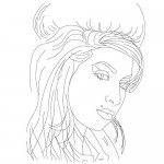 Amy Winehouse coloring page