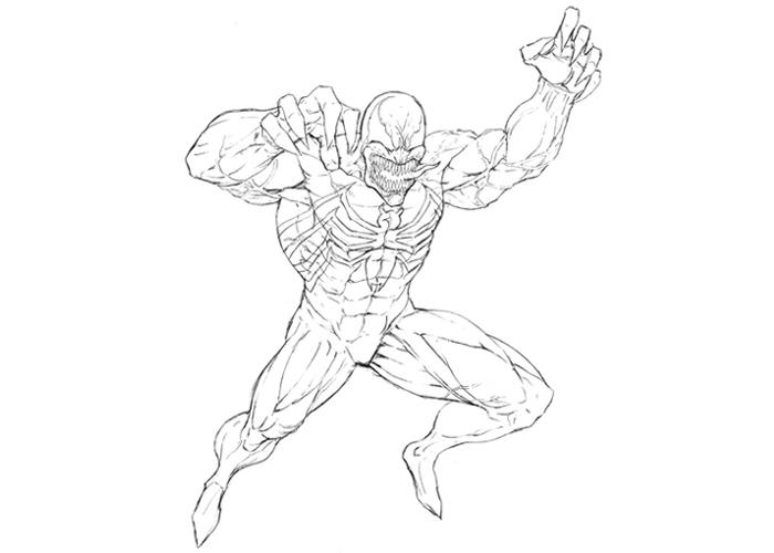 Anti Venom Coloring Pages
