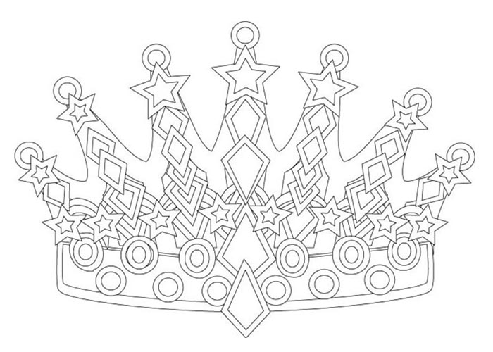 Jewel Crown Coloring Page Coloring Pages