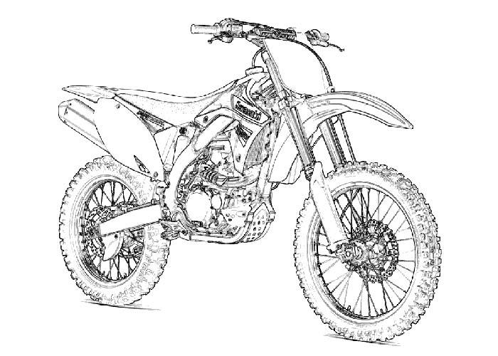 Kawasaki coloring pages