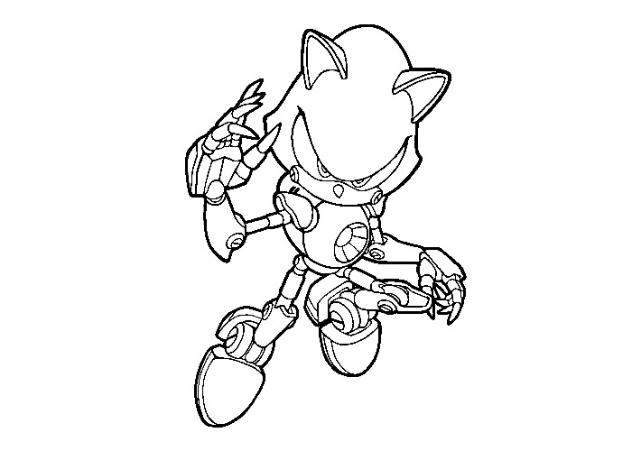 Metal Sonic coloring page